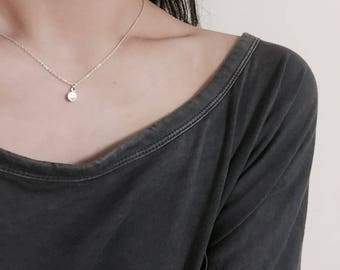 Smile Necklace, Simple Necklaces,  Minimalist Necklace, Silver Necklaces, Tiny Necklace, Mini Necklace, Dainty Necklace, 925, silver