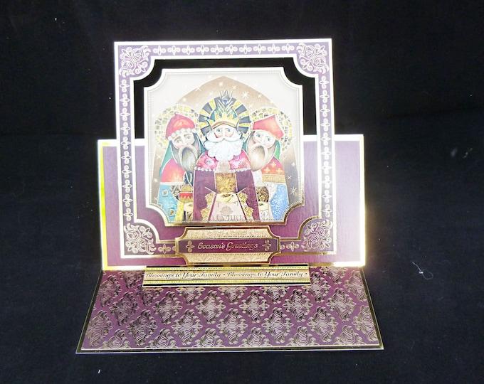 Three Kings Card, Traditional Christmas Card, Three Wise Men, Festive Greeting Card, Seasons Greetings, Maroon And Gold,