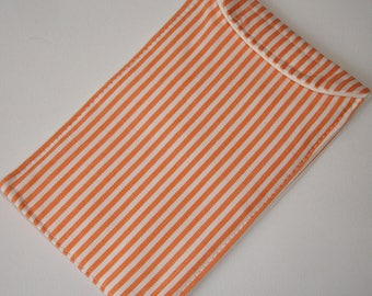 Mobile Cell Phone iPhone 6 Cozy Sleeve Orange Striped iPod Classic Case and White Stripes