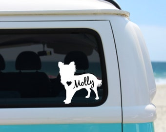 Long Haired Chihuahua Decal | Personalized Chihuahua decal | Car Decal | Laptop Decal | Notebook Decal | Window Decal