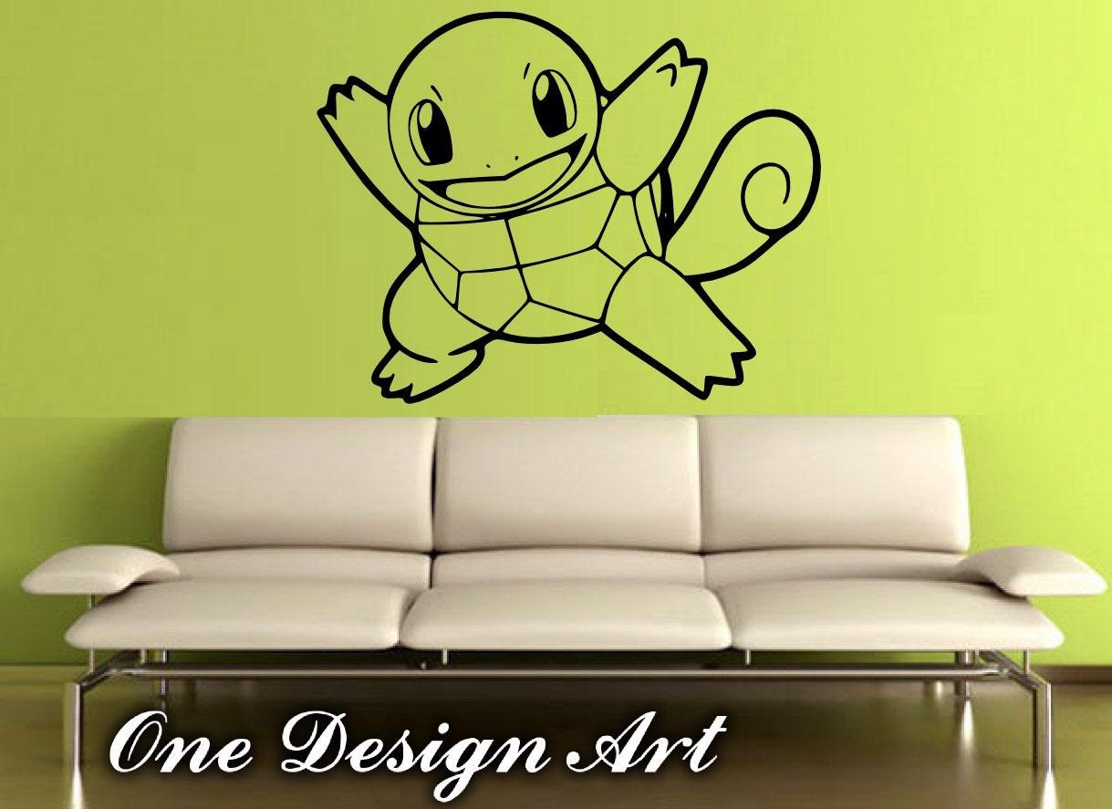 Squirtle Decal Pokemon Vinyl Sticker anime cartoon mural