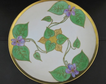 Haviland France Collectible Plate, Vintage French Limoges Plate, Vintage Hand Painted Plate