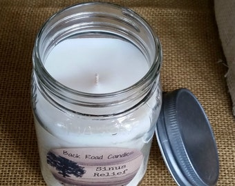 Sinus Relief Mason Jar Candle 16 oz.