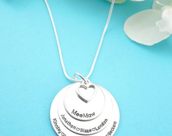 Personalized Grandmothers Necklace - Personalized Grandma Jewelry - Necklace for Grandma - Jewelry for Grandparents! Mothers Jewelry