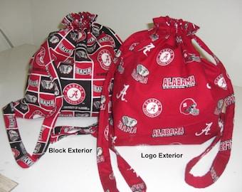 Alabama Crimson Tide Football Drawstring Backpack
