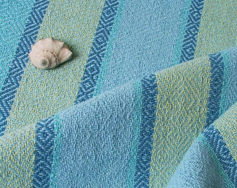 beach colors hand towel, light blue weft