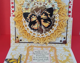 Any occasion butterfly easel card