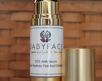 Babyface 12% AHA Alpha Hydroxy Acid Glycolic Serum  (pH 3.8)