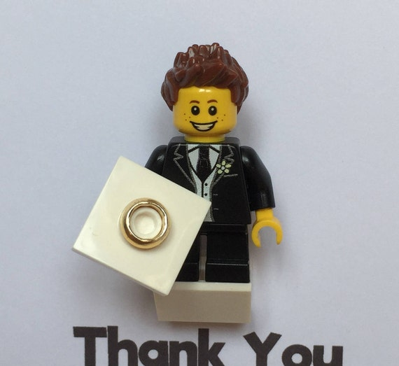 LEGO® Page Boy Gift Minifigure Frame Ringbearer Gift