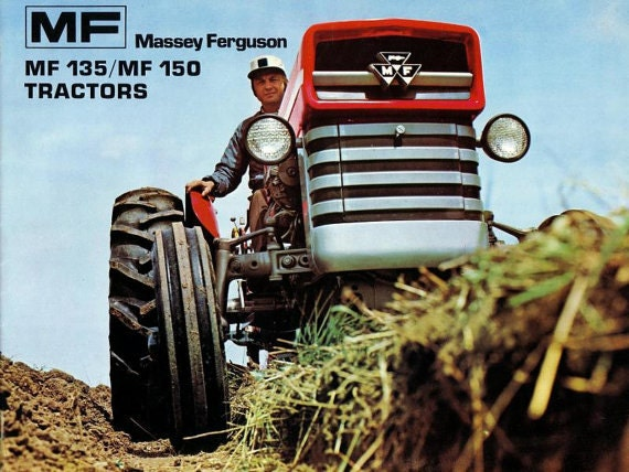Massey Ferguson Mf 135 148 Tractor Workshop Manual 535pg With