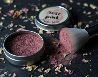 Rose Pink Blush - Organic Makeup - Organic Cosmetics - Organic Blush - Vegan Blush