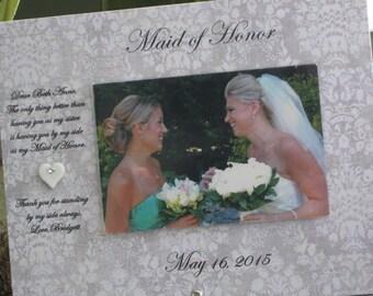 MAID of Honor, MATRON of Honor, BRIDESMAID, 4x6 photo, Saying and Paper Choice