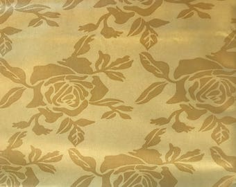 "Vicki Payne for "" Free Spirit"" 2 Yards Home Decorator Fabric ""Roses"""