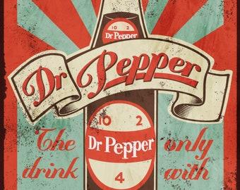 Dr Pepper vintage advertising sign