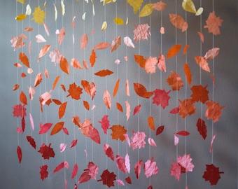 Fall Leaf Garland Display