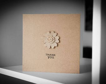 Thank You Flower Greeting Card