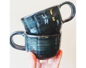 Blue Galaxy Handmade Teacups