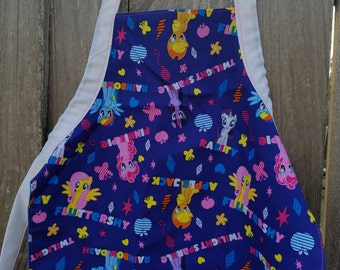 My Little Pony Apron,Toddler Apron,Kids Apron,Kids Arts and Crafts,Reversible Apron,Kids Gift Under 20,My Little Pony,Little Girls Apron