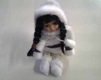 Alaskan Eskimo Vintage Porcelain Doll