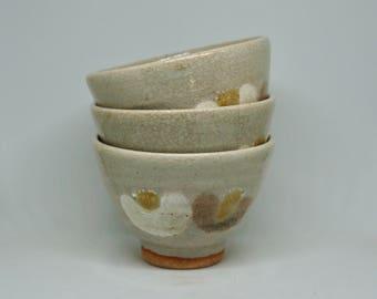 Set Of 3 Japanese Ceramic Tea Cups/Matcha Tea Cups/Japanese Pottery