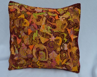 Brocade cushion cover