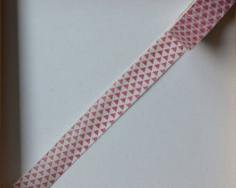 "Masking tape - pattern ""Small Chevron"" - Red 1.5 cm x 10 m"