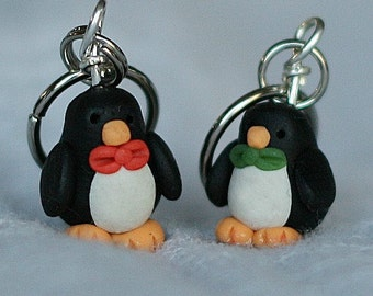 Polymer Clay Penguin Stitch Markers (set of 4)