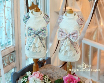 Shania  Designer Handmade lovley dress for Pets / Free Shipping