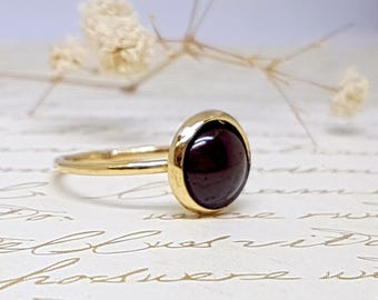 Garnet Ring, January Birthstone, Gold Garnet Birthstone Ring, January Birthday Jewelry, Garnet size 4 5 6 7 8 9 10 11 12 13 gold rings