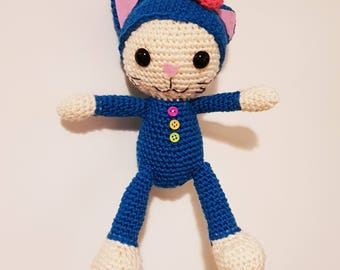 Kitten Wendy Amigurumi plush crochet blanket crochet handmade