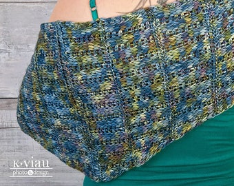 Adstock - Tunisian Crochet Shawl Pattern - Clothing Crochet Pattern - DK Crochet Pattern - Advanced Crochet Shawl Pattern