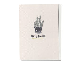 New home cactus , A6 greeting card Card
