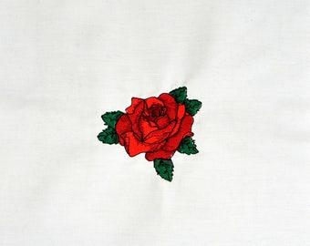 """3"""" tattoo rose machine embroidery design 4x4"""