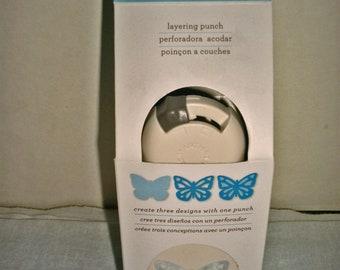 Martha Stewart Crafts Garden Butterfly Layering Punch New in Box