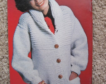 Knit and Crochet Pattern Book - Sweater Special - Coats & Clark Book No. 257 - Vintage 1976