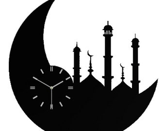 2018 Eid Gifts, Ramadan Kareem Eid Metal Laser Cut Wall Clock | Perfect Gift for This Ramadan and eid for Your Loved Once