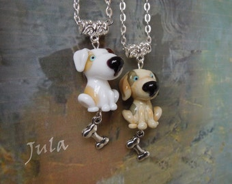 Puppy, Pendant puppy, Dog, Pendant Dog, Necklace puppy, Necklace dog, Necklace animal, Glass dog, Lampwork dog, Jewelry dog