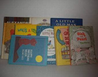 9 Vintage Children's Book Parent's Magazine Press Weekly Reader Frank Asch Little Bear
