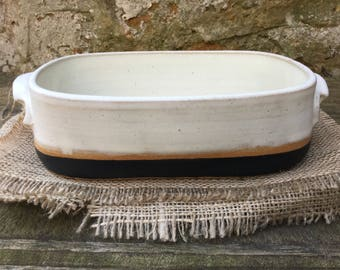 Luxuriously Deep Hand Made Stoneware Lasagne  / Pie Dish for Two