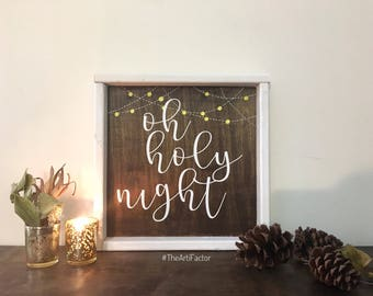 Oh holy night~christmas decor/wall hanging/ table and foyer decor