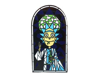 Sacred Booze Stained Glass Rick Pin