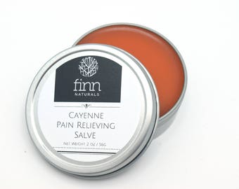 All Natural Organic Cayenne Salve, Pain Relieving Sore Muscle Rub, Arthritis Cream, Muscle Aches, Capsaicin Unscented 2 oz or 4 oz