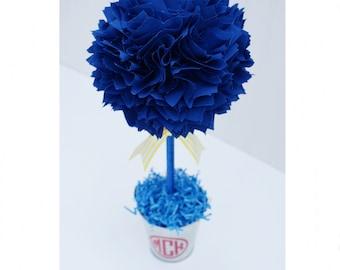ROYAL BLUE CENTERPIECE / Graduation party centerpiece / Birthday party centerpiece / Baby shower centerpiece / Table centerpieces