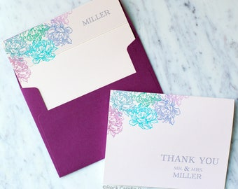 FREE SHIPPING & PERSONALIZATION Thank You From Mr and Mrs Wedding Stationery Set   Wedding Note Card Set   Bridal Shower Gift for Bride
