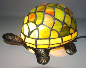 Turtle Tiffany style lamp