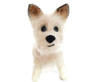 Custom Dog Sculpture,Needle Felted Dog - Example Westie cross  or any breed  of Your Choice Made To Order