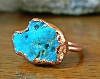 Raw Turquoise Ring - 8