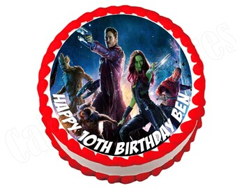 Guardians of the Galaxy round party decoration edible cake image cake topper frosting sheet