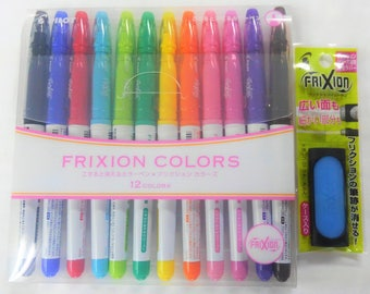 Free shipping Pilot Erasable Ink Pen Frixion Colors 12C SFC-120M12C with Frixion Eraser (japan import)