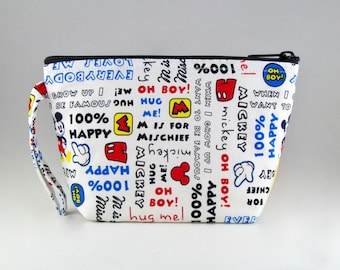 Happy Mickey Makeup Bag - Accessory - Cosmetic Bag - Pouch - Toiletry Bag - Gift